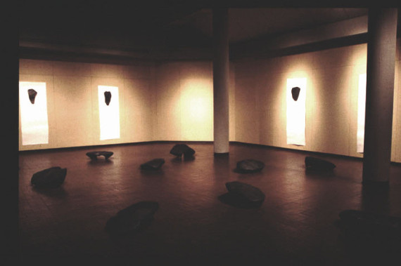 Portraits, 1999 as part of the exhibition Ten Black Forms, by Vanessa Paschakarnis